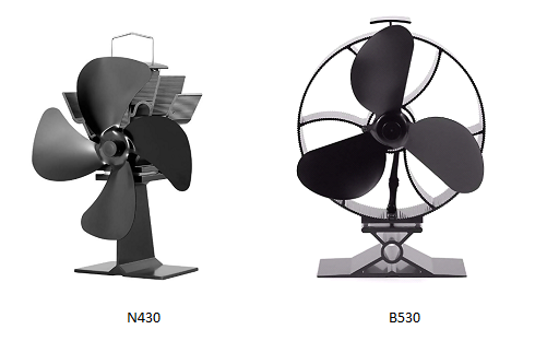 two different stove fans